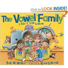 The Vowel Family: A Tale of Lost Letters (Carolrhoda Picture Books) (Sally M. Reading Activities, Literacy Activities, Teaching Reading, Teaching Ideas, Creative Teaching, Guided Reading, Vowel Activities, Reading Centers, Reading Workshop