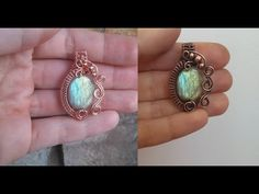 Swirly Bead Pendant Wire Wrap Tutorial - YouTube                              …
