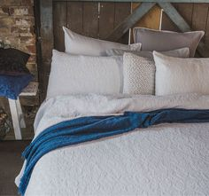 Rochelle White BAMBURY -  Features: Cotton, Decorative chenille floral pattern, Made in Portugal from European fabric, To suit Queen, King and Super King.  Set Contains:x1 Coverlet - 240cm x 260cm, x2 Standard Pillowcases - 48cm x 73cm - #coverletsandcomforters
