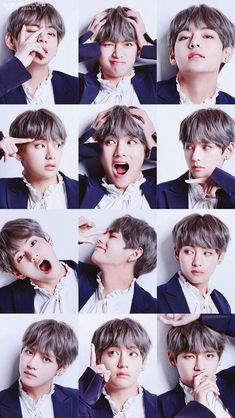 Taehyung face expressions