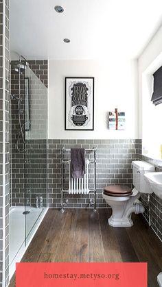 Vinyl Flooring Bathroom, Small Bathroom Tiles, Bathroom Vinyl, Rustic Bathrooms, Small Bathrooms, Master Bathroom, Bad Inspiration, Bathroom Inspiration, Bathroom Ideas