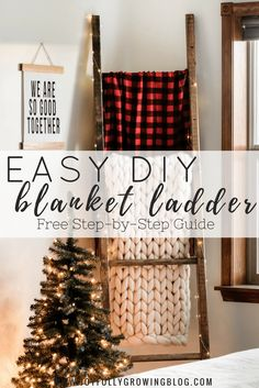 DIY Blanket Ladder +
