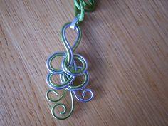 alu wire pendant
