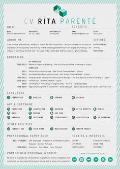 Self Promo | Logo, Card & CV by Rita Parente, via Behance