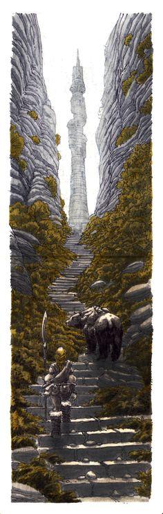 ArtStation - mini moleskine sketch 070 - Only way is up, Midhat Kapetanovic
