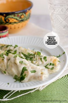 White Chicken Enchiladas - Taste and Tell