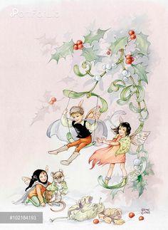 Fairies, Holly and Mistletoe