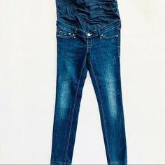 H&M Mama Skinny Maternity Stretch Skinny Jeans 10 Medium Dark Wash Denim Cheap Maternity Clothes, Cute Maternity Outfits, Maternity Leggings, Maternity Gowns, Old Navy Maternity, Old Navy Jeans, Old Navy Women, Denim Skinny Jeans, Slim Legs