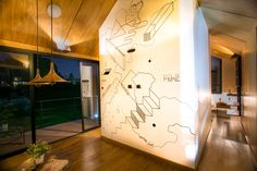 Prototipo Extend® 47m2 Sala de Negocios y Ventas Zona de Estar Wall Colors, Table Lamp, Lighting, Walls, Decoration, Home Decor, Prefab Homes, Interiors, Pictures