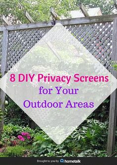 8 diy privacy screens for your outdoor areas, curb appeal, decks, fences, outdoor living, patio, repurposing upcycling, Pin this to share these amazing ideas with your friends