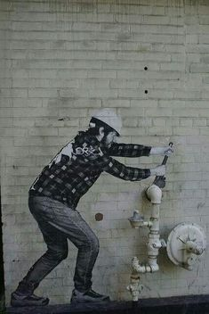 Banksy - Toronto, Ontario, Canada.More Pins Like This At FOSTERGINGER @ Pinterest
