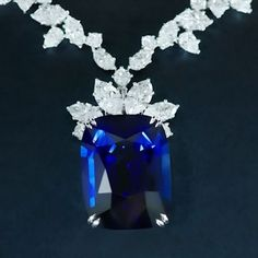 """4,698 Likes, 90 Comments - Harry Winston (@harrywinston) on Instagram: """"A rare 68.79-carat sapphire suspended from 126 sparkling diamonds shines in this extraordinary…"""""""