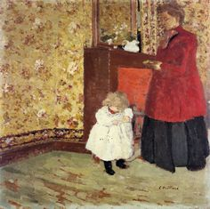 The Athenaeum - VUILLARD, Édouard French Nabi,Post-Impressionist (1868-1940)_Mother and Child- 1900