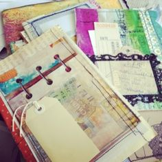 Artful Fancies: Shabby journal peek