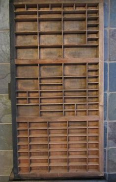 This is a Vintage Keystone Type Foundry Printing Press Drawer    This is a Great item for displaying your treasures from your travels or trinkets you