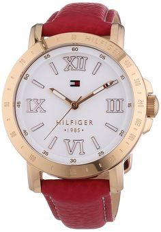 Tommy Hilfiger LIV - Reloj de cuarzo para mujer, correa de cuero color rosa: Amazon.es: Relojes