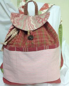 Quilted backpack features coordinating by MarthaDanielsonSews, $45.00