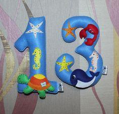 Купить или заказать Цифра из фетра 'Глубокое синее море' в интернет-магазине на Ярмарке Мастеров. Цифра из фетра для торжественного празднования Дня рождения. Цифра из фетра станет прекрасным дополнением к праздничному декору детской комнаты ко дню рождения малыша, а также украшением праздничного стола! Незаменимый аксессуар для фотосессии Вашего ребенка! Каждая цифра изготавливается для конкретного ребенка, именно Вашего малыша!