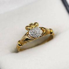 Boucles d/'Oreilles Or Jaune MASSIF  Diamant ROSE CZ  3mm  8k