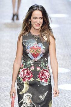 Coco Brandolini walks the runway at the Dolce & Gabbana show during Milan Fashion Week Fall/Winter 2017/18