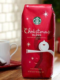 Starbucks® Christmas Blend. We're always big fans of Starbucks Holiday packaging...