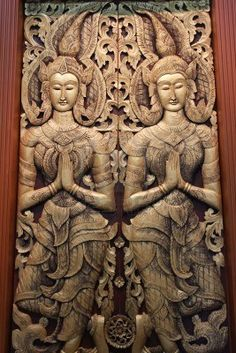 Thai wood carvings!