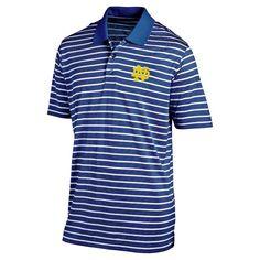 NCAA Men's Striped Poly Mesh Polo Shirt Notre Dame Fighting Irish - Xxl, Multicolored