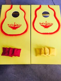 "Here is the latest MPB cornhole set.  I dub thee ""punk rock shiner bock"".  What do you think?"