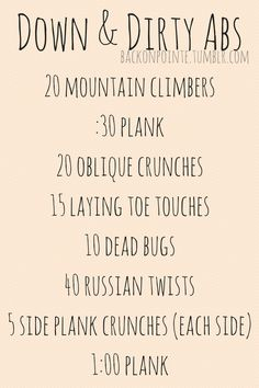 Get down on your mat and work those abs!