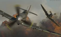 Two Spitfires of the 303 squadron, which played a very significant role in the Battle of Britain, joining more than 150 fellow Polish pilots in this crucial encounter. The 303 shot down 126 enemy planes and lost merely eight pilots in the effort. Beautiful 3D rendering by Anders Lejczak (using Cinema4D R10 / BodyPaint3).