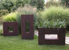 Example of geo structures and modern grass planters-SA