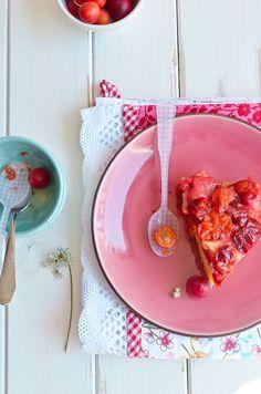 Dalmatia Gourmande: Preokrenuti kolač od amula/Sugar plums upsidedown cake