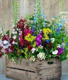 Container Flowers Ideas New Amazing Diy Outdoor Planter Ideas to Make Your Garden Wonderful Small Flower Gardens, Small Flowers, Garden Cottage, Garden Pots, Garden Ideas, Planter Garden, Patio Ideas, Ideas Para Decorar Jardines, Diy Planters Outdoor