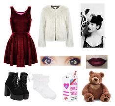 """""""Melanie Martinez {Teddy Bear} ©"""" by khodionna ❤ liked on Polyvore featuring Surreal But Nice, Hue, Valfré and Gund"""