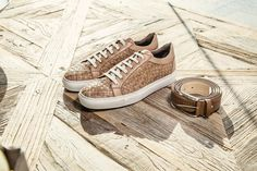 Luxury sneakers in woven soft calf leather. White rubber sole. #AldoBruè #sneakers #mancollection