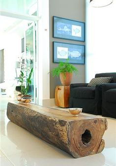 Brian would love a wood table like this. Maybe down the line, we can do something like this. Maybe foot of the bed or a small version as a side table.