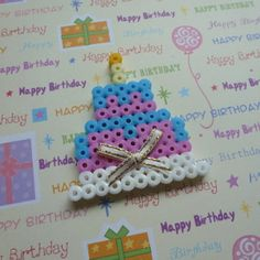 Birthday Cake Perler Bead Pattern