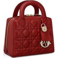 Dior Lily Bag ❤ liked on Polyvore featuring bags, handbags, red bag, lily handbags, lily purses, red handbags and red purse