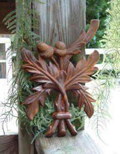 Wrought iron acorn and leaf Wood Sculpture, Garden Sculpture, Acorns To Oaks, Acorns Grow, Rusty Garden, Acorn Crafts, Acorn And Oak, Iron Wall Decor, Little Acorns