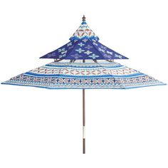 Pier 1 Imports Pagoda Umbrella ($221) ❤ Liked On Polyvore Featuring Home,  Outdoors