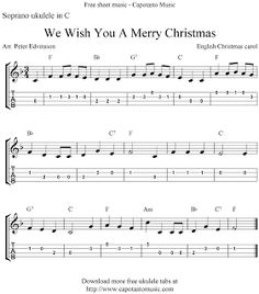 Free Sheet Music Scores: Ukulele Christmas