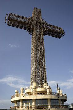 The Millennium Cross of Mount Vodno in Skopje