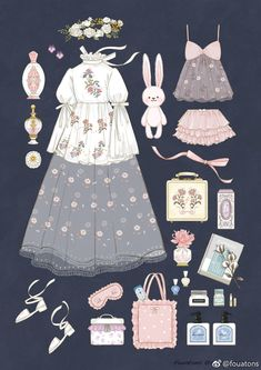 Ideas For Fashion Clothes Illustration Vintage Fashion Sketches, Fashion Design Sketches, Fashion Designers, Sketch Inspiration, Character Design Inspiration, Kleidung Design, Mode Lolita, Estilo Lolita, Illustration Mode