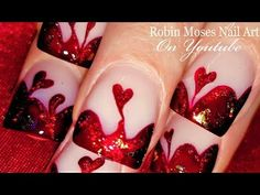 Red Hot Lava Heart Nails! Valentine's Day Nail Art Design Tutorial 2018 - YouTube