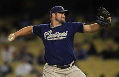Heath Bell pitched for the San Diego Padres from 2007-2011. He is second in saves on the all-time Padres list.