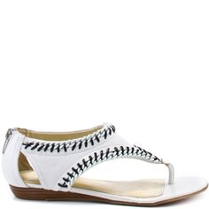 Enzo Angiolini Ximon - White Leather Mazur Hagglund you need these! for baseball. Ugg Boots Cheap, White Heels, White Leather, Uggs, Sandals, Baseball, Shopping, Shoes, Women