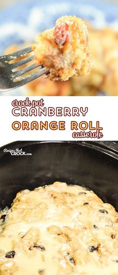 This Crock Pot Cranberry Orange Roll Casserole is a delicious way to start your…