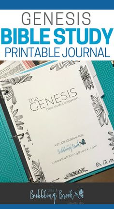 Love this keepsake for #biblestudy! It's a printable journal you can use with Genesis. So pretty, too! #bible