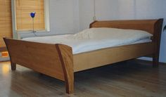 olive cherry maple bed