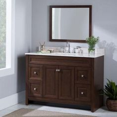 Home Decorators Collection Annakin 48 In Vanity In Cream